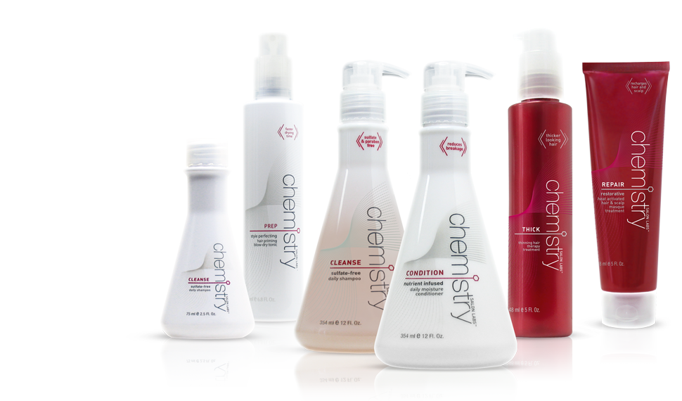 Chemistry primary packaging - lab inspired hair care line | JOED DESIGN
