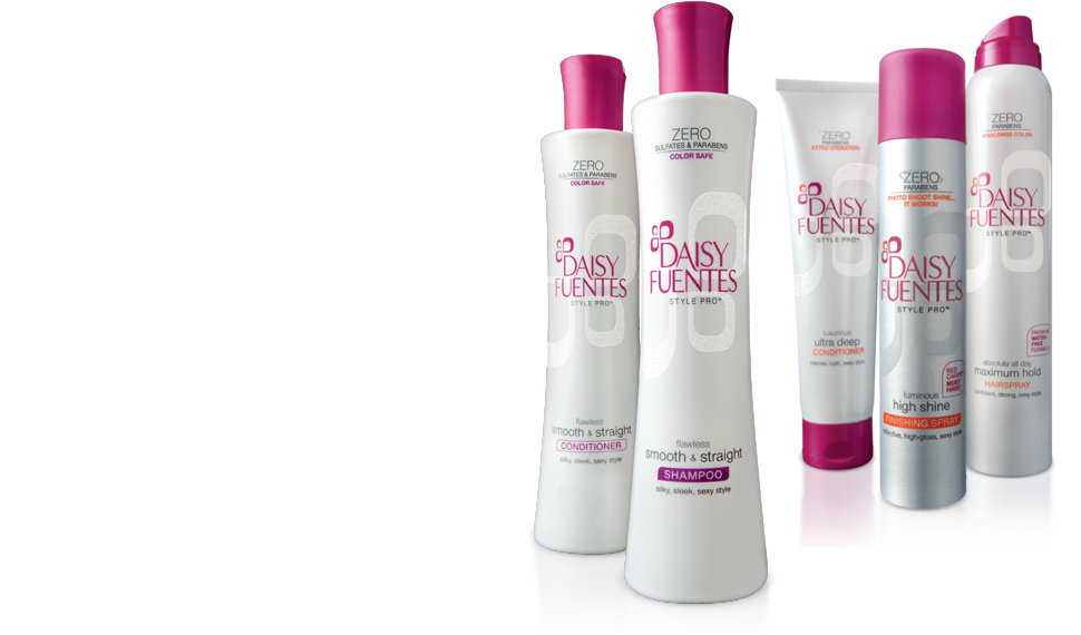 Daisy Fuentes primary packaging - celebrity branded hair care for Kohl's | JOED DESIGN